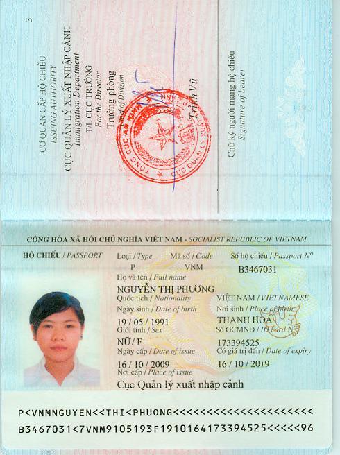 Hộ chiếu xuất khẩu lao động