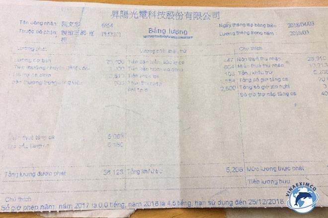 Bảng lương Đài Loan