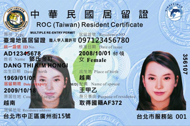 Thẻ cư trú Đài Loan