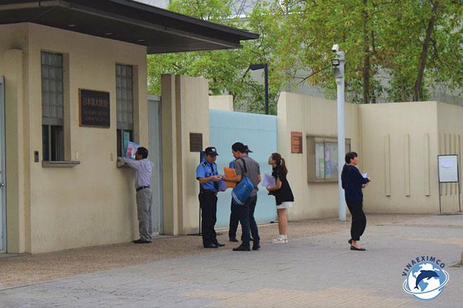 Đại sứ quán Nhật Bản tại Hà Nội nơi tiếp nhận hồ sơ tại miền Bắc