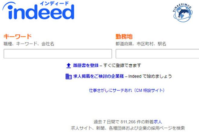 Việc làm thêm Nhật Bản - Website Indeed