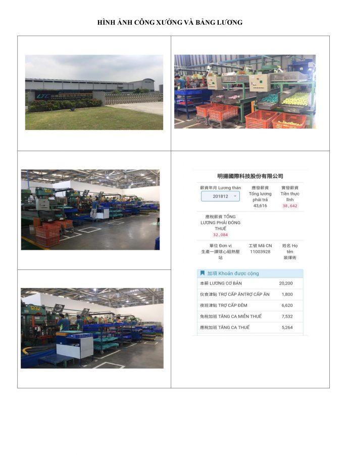 đơn hàng sản xuất bóng golf