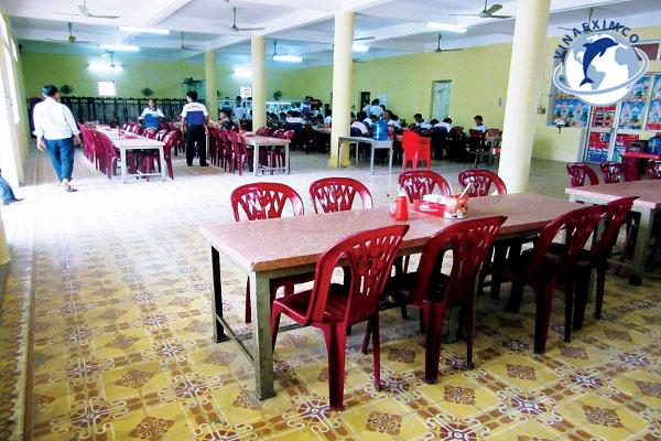 Khu vực nhà ăn cho học viên